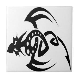 Diseños abstractos del dragón teja cerámica