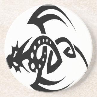 Diseños abstractos del dragón posavaso para bebida