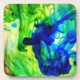 Diseños abstractos del remolino del agua posavasos de bebidas