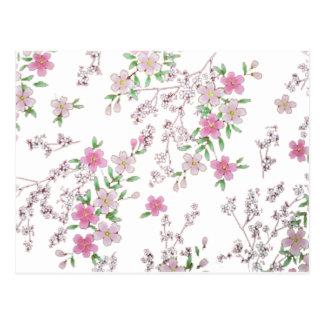 Diseños adaptables de la flor de cerezo tarjeta postal