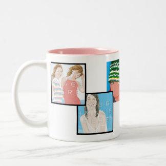 Diseños adaptables de la taza del 2-Tono de