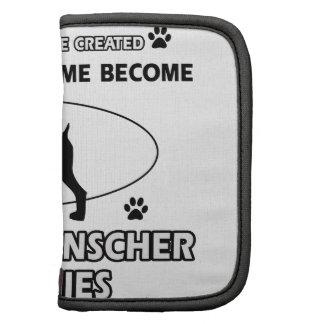 Diseños alemanes del perro del pinscher organizadores