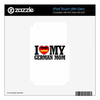 diseños alemanes frescos de la mamá iPod touch 4G calcomanías
