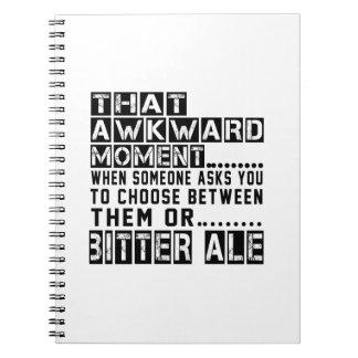 Diseños amargos de la cerveza inglesa notebook