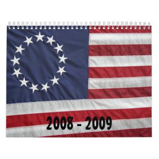 Diseños americana calendarios