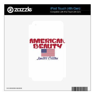 diseños americanos de la belleza calcomanías para iPod touch 4G