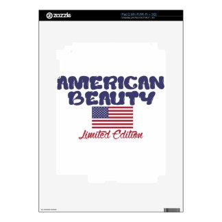 diseños americanos de la belleza iPad 2 calcomanías