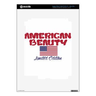 diseños americanos de la belleza iPad 3 skins