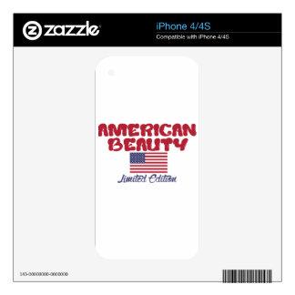 diseños americanos de la belleza iPhone 4S calcomanías