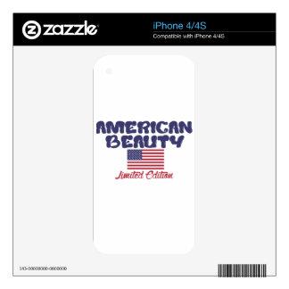 diseños americanos de la belleza iPhone 4S skins