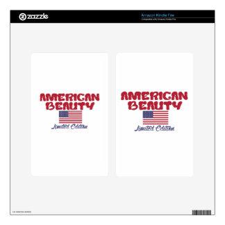 diseños americanos de la belleza kindle fire pegatina skin
