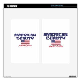 diseños americanos de la belleza pegatina skin para kindle fire