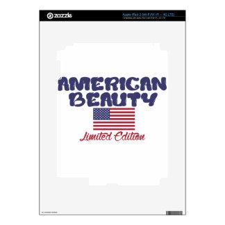 diseños americanos de la belleza pegatinas skins para iPad 3