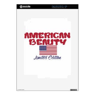 diseños americanos de la belleza skin para el iPad 2