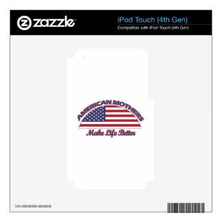 diseños americanos de las madres skins para iPod touch 4G