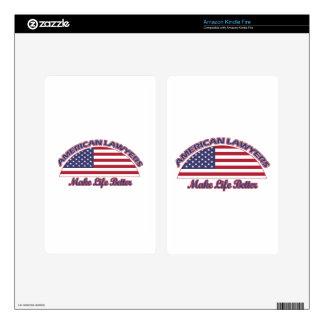 diseños americanos de los abogados kindle fire pegatinas skins