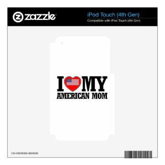 diseños americanos frescos de la mamá skins para iPod touch 4G
