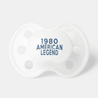 Diseños an o 80 del cumpleaños de la leyenda del chupetes de bebé