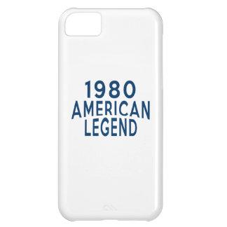 Diseños an o 80 del cumpleaños de la leyenda del funda para iPhone 5C