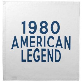 Diseños an o 80 del cumpleaños de la leyenda del servilleta