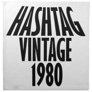 diseños an o 80 del vintage servilletas imprimidas