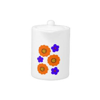 Diseños anaranjados azules florales de China