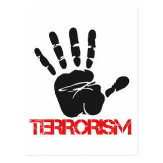Diseños antis del terrorismo tarjetas postales