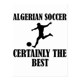 diseños argelinos frescos del fútbol tarjeta postal