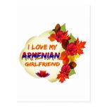 Diseños armenios de la novia postal