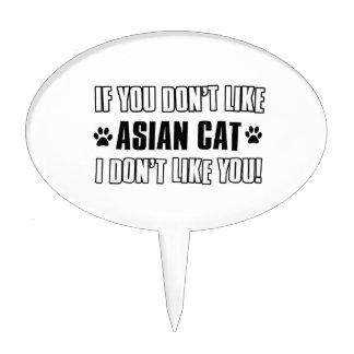 diseños asiáticos del gato del gato palillos de tarta