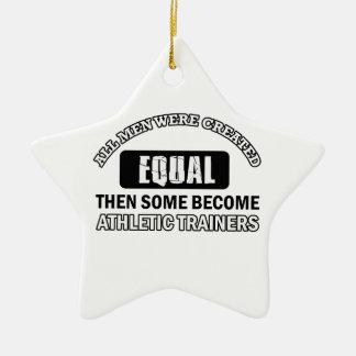 Diseños atléticos de los instructores adornos de navidad