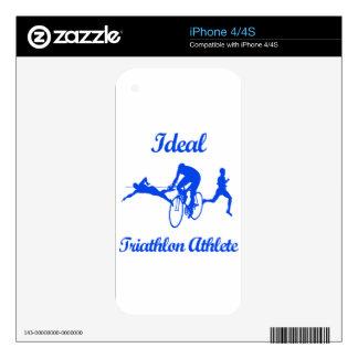 Diseños ATLÉTICOS del TRIATHLON Calcomanía Para iPhone 4