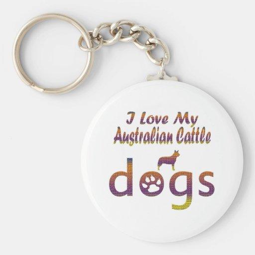 Diseños australianos del ganado llavero personalizado