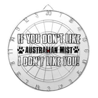 diseños australianos del gato de la niebla tabla dardos
