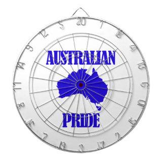 Diseños australianos del orgullo tablero dardos