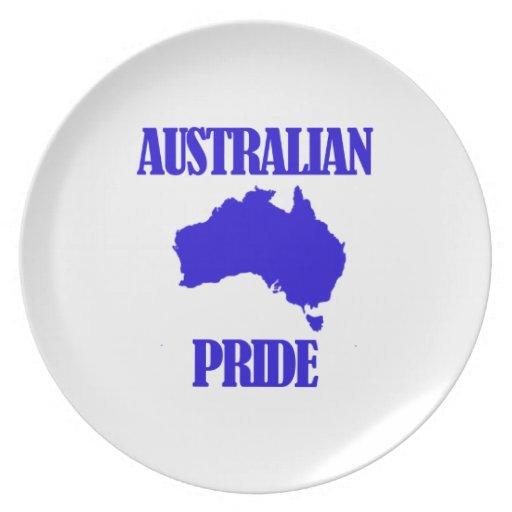 Diseños australianos del orgullo plato de comida