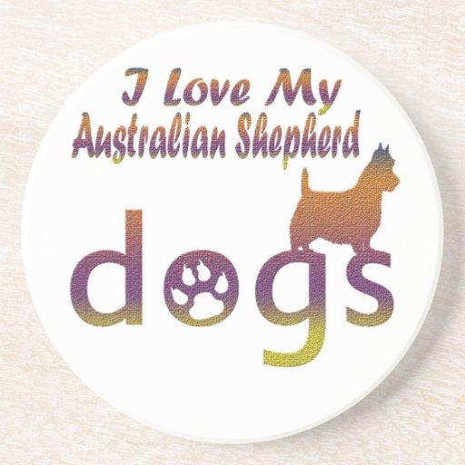 Diseños australianos del pastor posavasos personalizados