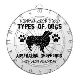 diseños australianos del perro de pastor tablero dardos