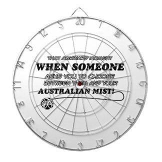 Diseños australianos divertidos de la niebla tablero de dardos