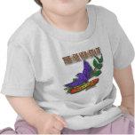 Diseños azules del estado del pájaro de Nevada Camisetas