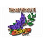 Diseños azules del estado del pájaro de Nevada Postal