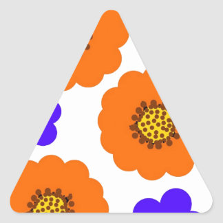 Diseños azules florales del naranja pegatinas
