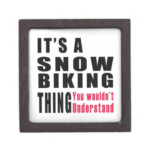 Diseños Biking de la cosa de la nieve Caja De Regalo De Calidad