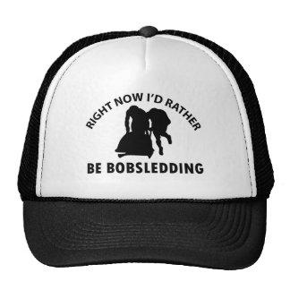 Diseños bobsledding frescos gorras de camionero