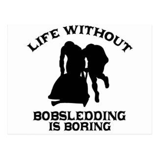 DISEÑOS Bobsledding Tarjeta Postal