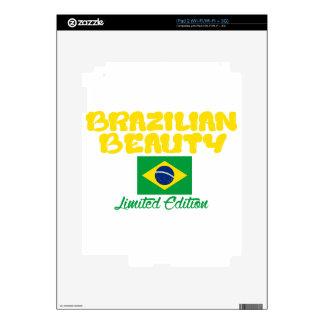 Diseños brasileños de la belleza calcomanías para iPad 2