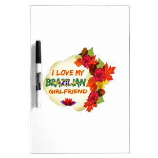 Diseños brasileños de la novia tablero blanco