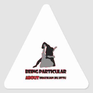 diseños brasileños del jitsu del jiu calcomania de triangulo