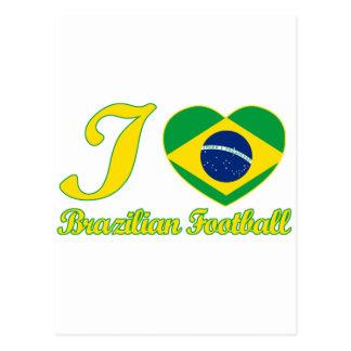 DISEÑOS brasileños frescos del fanático del fútbol Tarjeta Postal