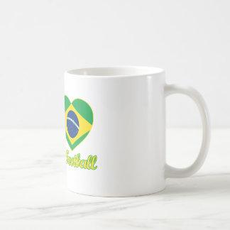 DISEÑOS brasileños frescos del fanático del fútbol Taza Clásica